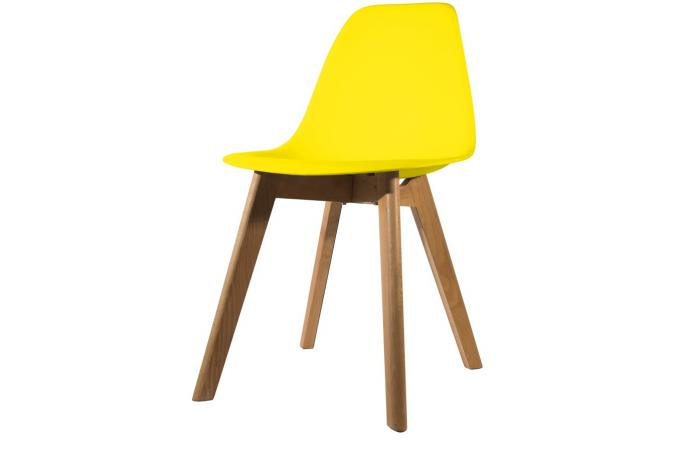 Chaise Scandinave Coque Jaune NORWAY