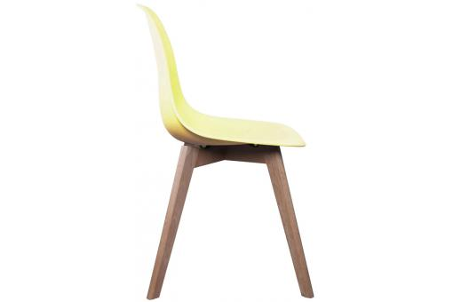 Chaise Scandinave Coque Jaune Pastel NORWAY CM196898-0000
