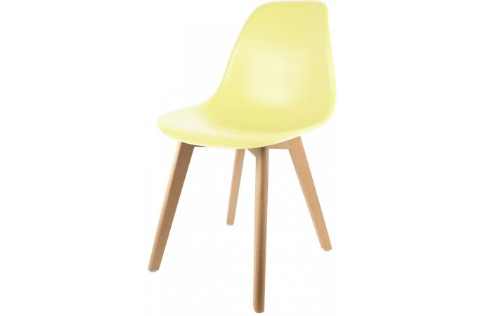 Chaise scandinave coque jaune pastel norway design sur for Chaise jaune design