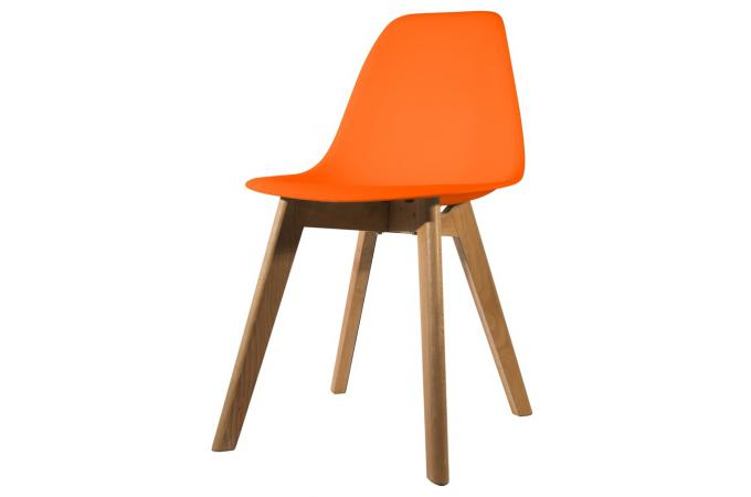 chaise scandinave coque orange norway design sur sofactory. Black Bedroom Furniture Sets. Home Design Ideas
