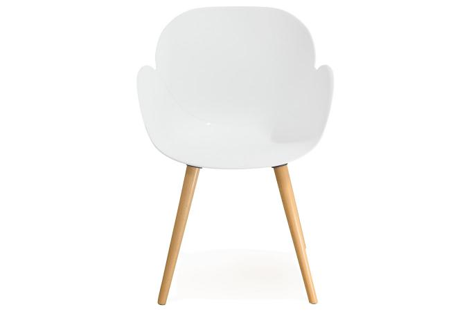 Chaise Scandinave Coque Plastique Blanc LOTTA