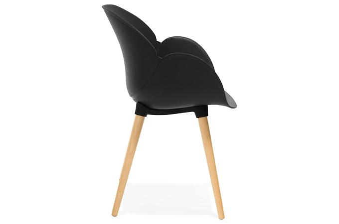 Chaise scandinave coque plastique noir lotta design sur for Chaise scandinave plastique