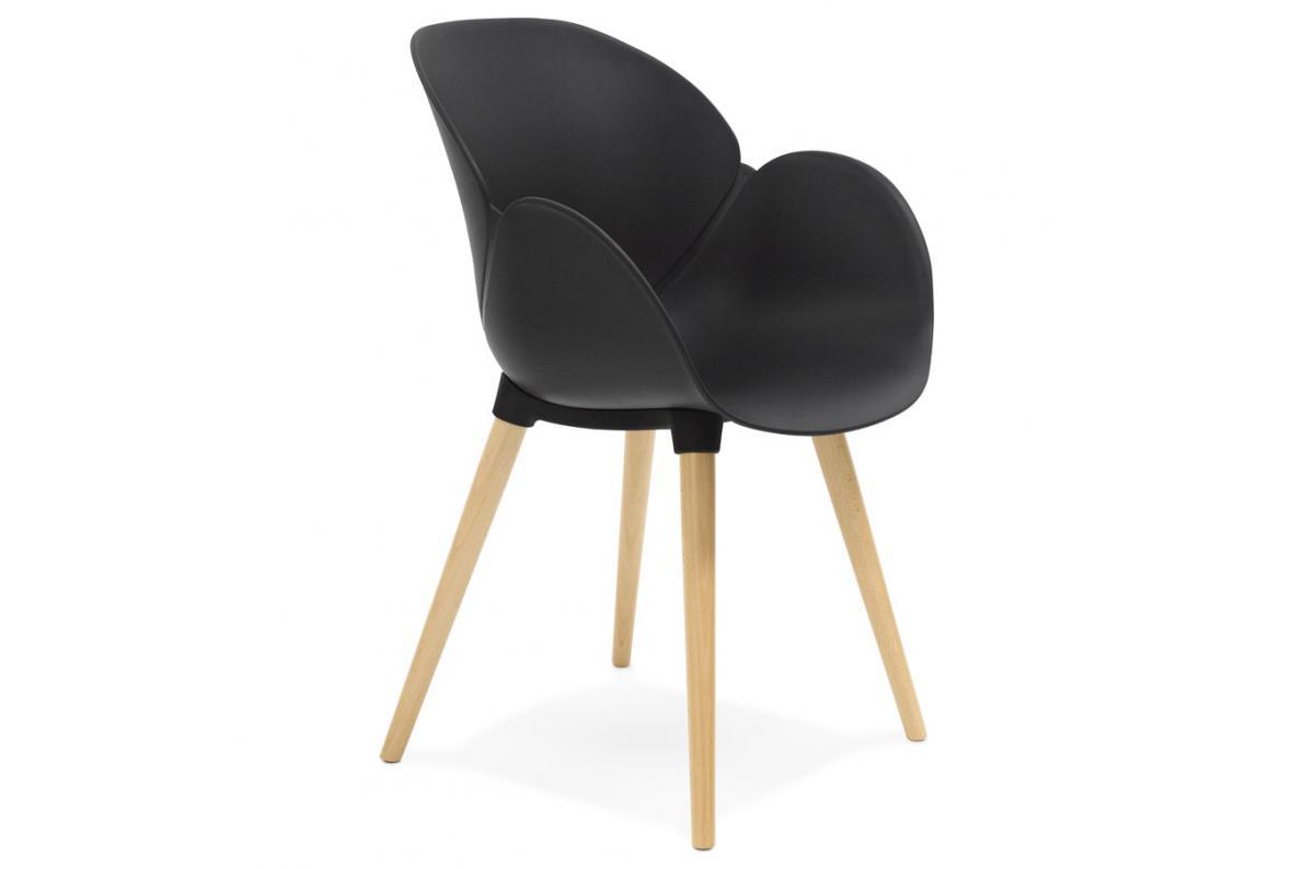Chaise Coque Plastique LOTTA Noir Scandinave WD2IEH9