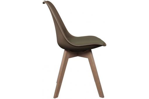 Chaise Scandinave Coque Taupe avec Assise Rembourrée NORWAY CM1168413-0000