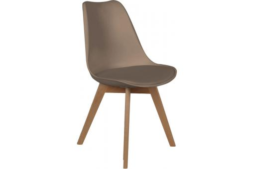Chaise Scandinave Coque Taupe avec Assise Rembourrée NORWAY SoFactory