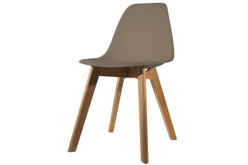 Chaise Scandinave Coque Taupe NORWAY