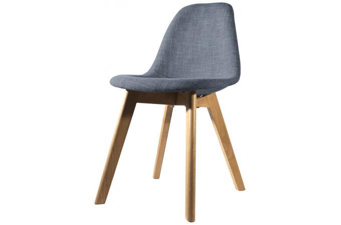 chaise scandinave en tissu bleue norway design pas cher sur sofactory. Black Bedroom Furniture Sets. Home Design Ideas