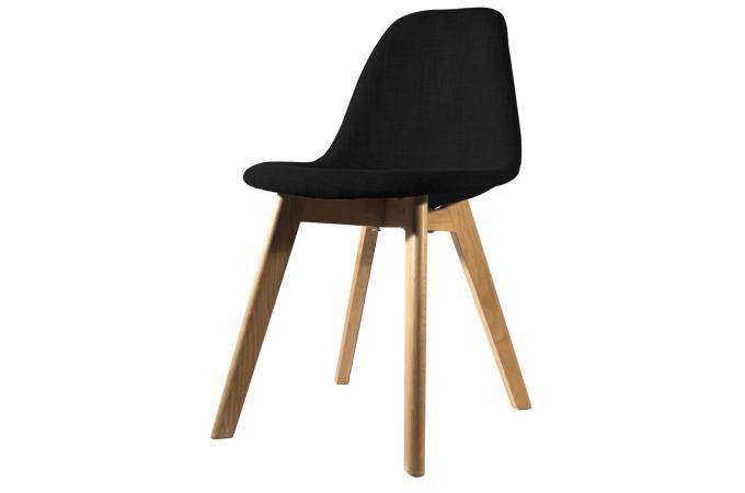 chaise scandinave en tissu noire norway - Chaise Scandinave Noir