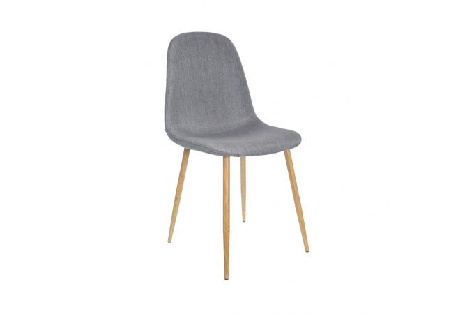 lot de 4 chaises scandinaves gris outan - Chaise Grise Scandinave