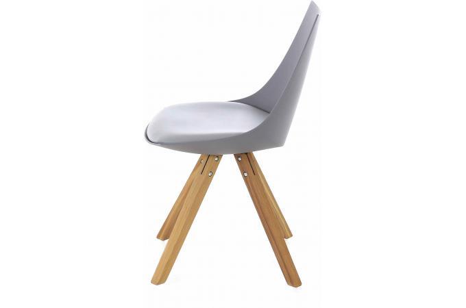 chaise scandinave grise milan design sur sofactory. Black Bedroom Furniture Sets. Home Design Ideas