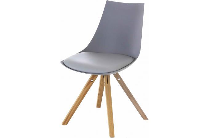 Chaise scandinave grise milan design sur sofactory for Chaise sejour grise
