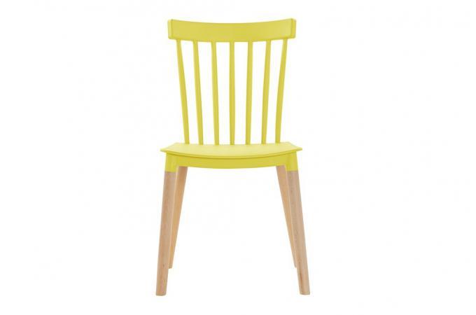 chaise scandinave jaune citrus - Chaise Scandinave Jaune