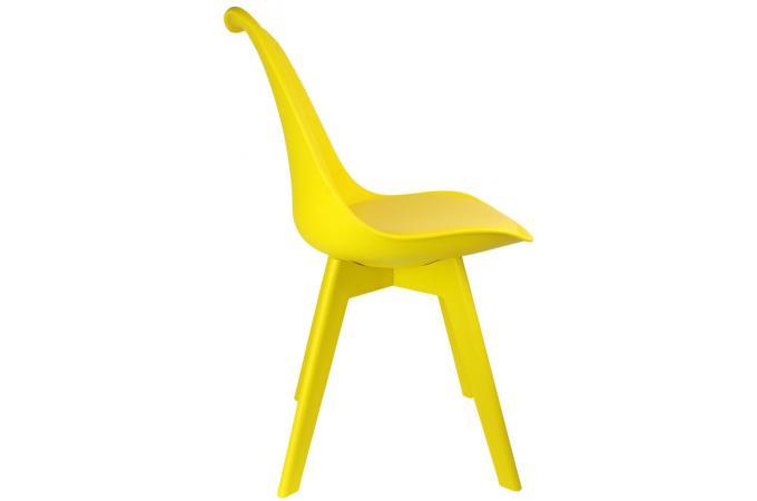 chaise scandinave jaune larna - Chaise Scandinave Jaune