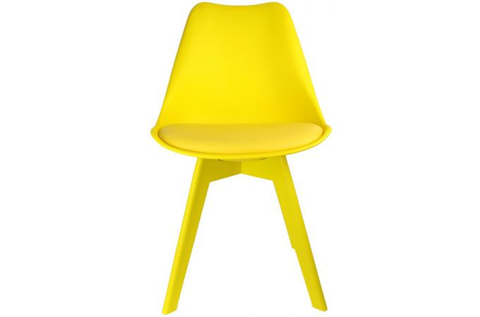 Chaise scandinave jaune larna design sur sofactory for Chaise jaune design