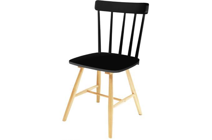 chaise scandinave noire jefferson design sur sofactory. Black Bedroom Furniture Sets. Home Design Ideas