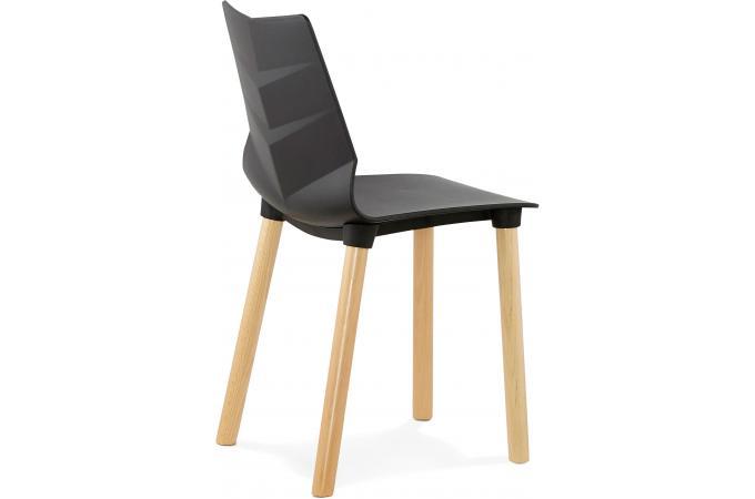 Chaise scandinave noire visto design sur sofactory for Chaises scandinaves noires