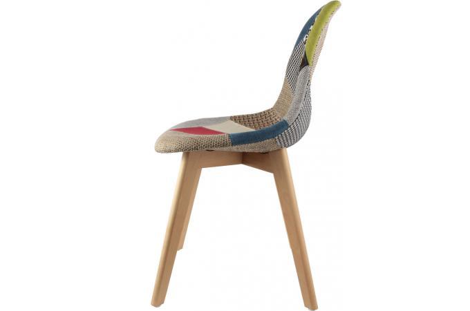 eb337eb47d75c5 Chaise scandinave patchwork coloré ODDI design sur SoFactory