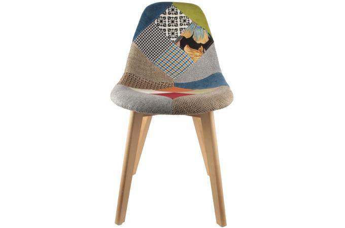 Chaise Scandinave Patchwork Coloré ODDI Design Sur SoFactory - Fauteuil scandinave coloré