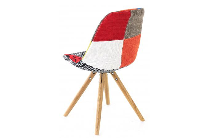 Chaise multicolore amazing with chaise multicolore for Chaise longue patchwork