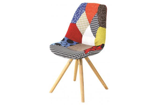 Chaise Scandinave Patchwork FORWAY Design Sur SoFactory - Fauteuil scandinave coloré