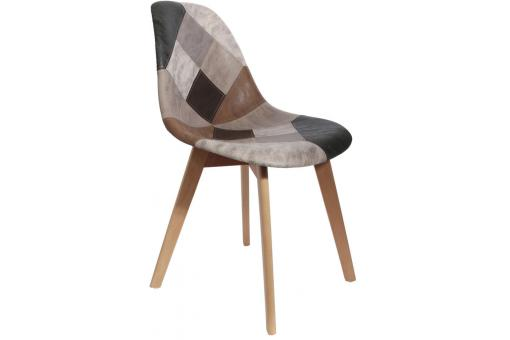 Chaise Scandinave Patchwork Marron NORWAY SoFactory