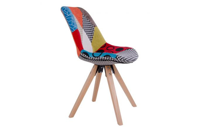 chaise scandinave patchwork multicolore grete - Chaise Scandinave Multicolore