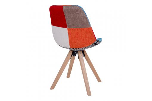 Chaise Scandinave Patchwork Multicolore GRETE Ho296535-0000