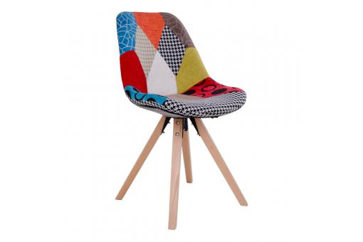 Chaise Scandinave Patchwork Multicolore GRETE SoFactory