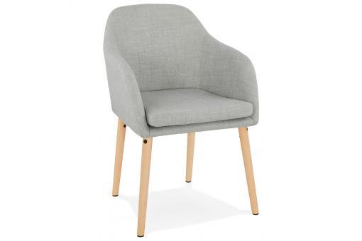 chaise scandinave tissu gris cieza design sur sofactory. Black Bedroom Furniture Sets. Home Design Ideas
