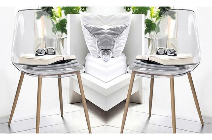 chaise scandinave transparente kauva - Chaise Scandinave Transparente