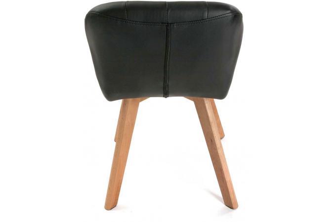 Chaise Style Scandinave Noire LETONA