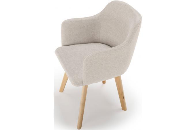 chaise scandinave tissu beige crush design sur sofactory. Black Bedroom Furniture Sets. Home Design Ideas