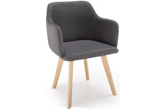 chaise scandinave tissu gris fonc crush design sur sofactory. Black Bedroom Furniture Sets. Home Design Ideas