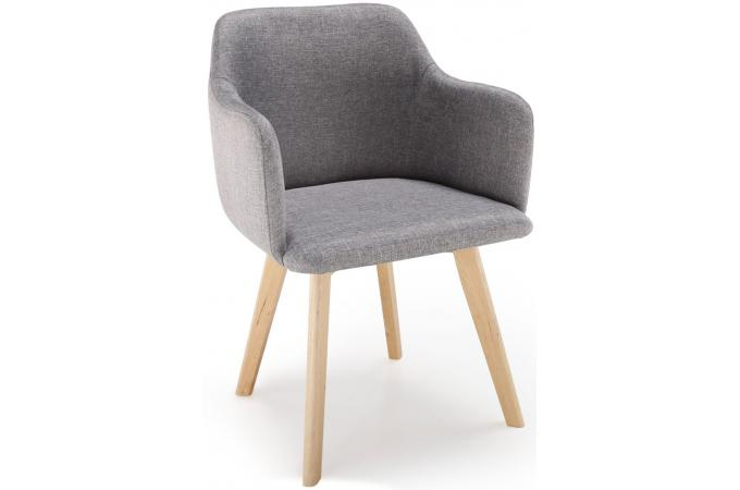 chaise scandinave tissu gris crush design sur sofactory