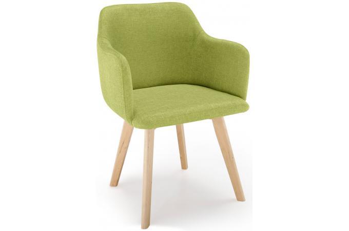 chaise scandinave tissu vert pistache crush - Chaise Verte