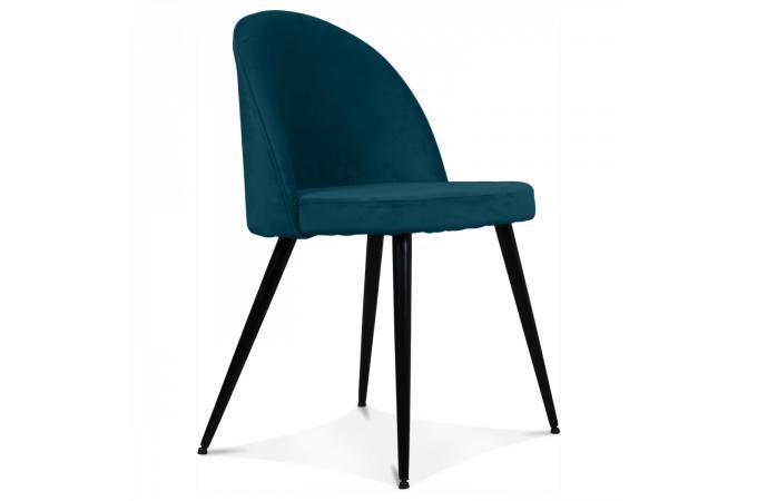 chaise tissu bleu canard lybray design sur sofactory. Black Bedroom Furniture Sets. Home Design Ideas