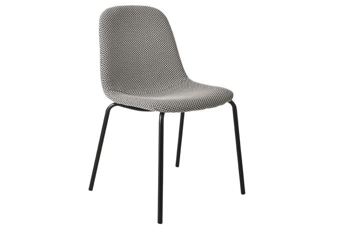 chaise tissu gris clair veltovi design sur sofactory. Black Bedroom Furniture Sets. Home Design Ideas
