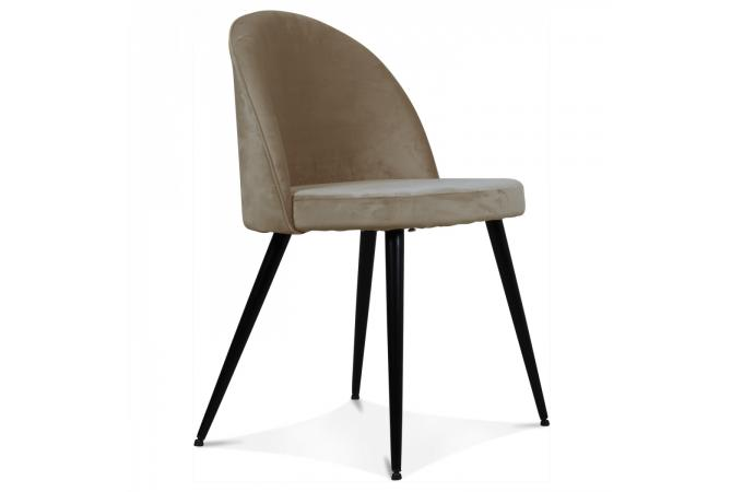 Chaise Velours Taupe LYBRAY