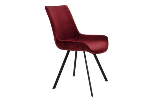 Chaise Velours Rouge TORVALD Ho303641-0000