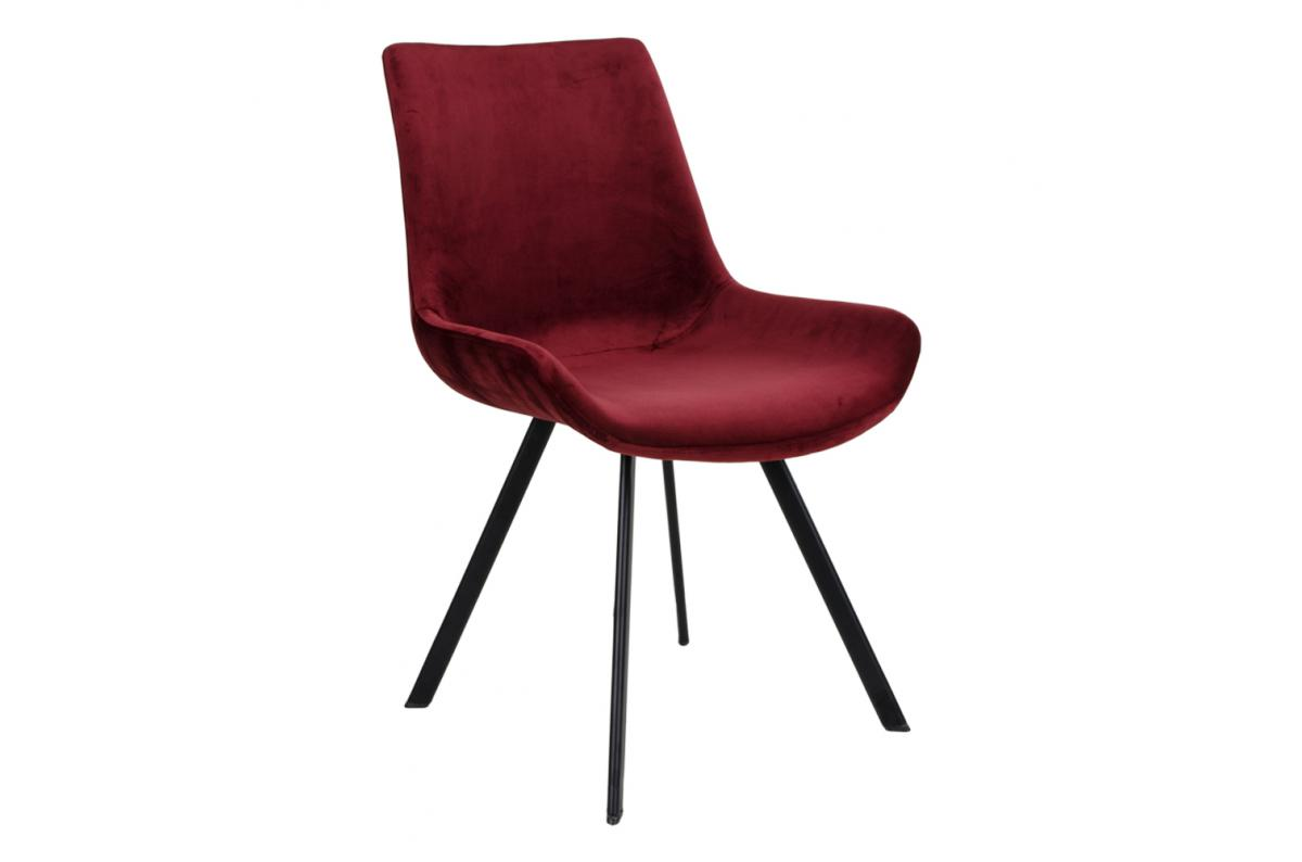 Chaise Velours Rouge TORVALD SoFactory