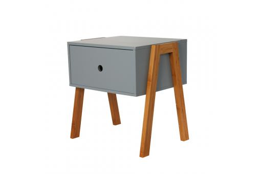 Table de Chevet Empilable Gris GOTCHA SoFactory