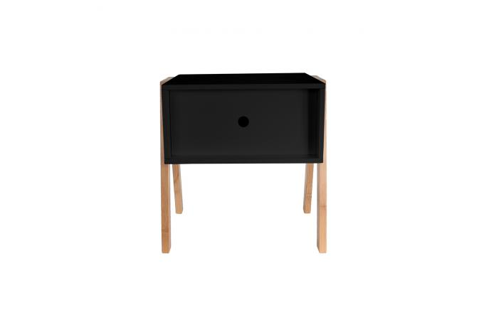 table de chevet empilable noir gotcha design sur sofactory. Black Bedroom Furniture Sets. Home Design Ideas