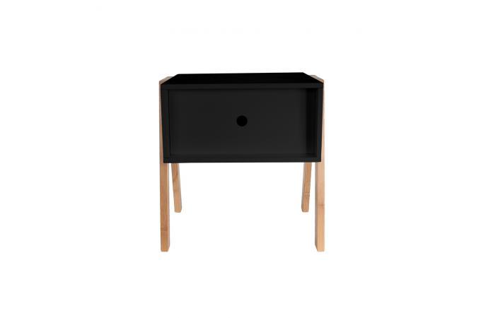 table de chevet empilable noir gotcha design sur sofactory. Black Bedroom Furniture Sets. Home Design Ideas