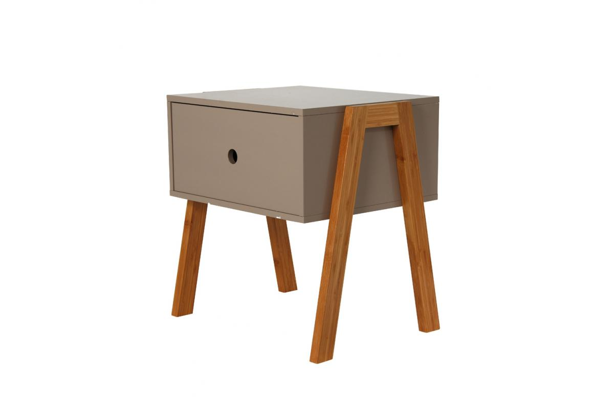 Table De Chevet Empilable Taupe Gotcha