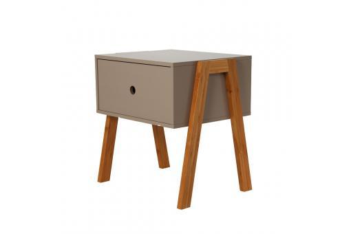Table de chevet empilable taupe gotcha design sur sofactory - Table de chevet taupe ...
