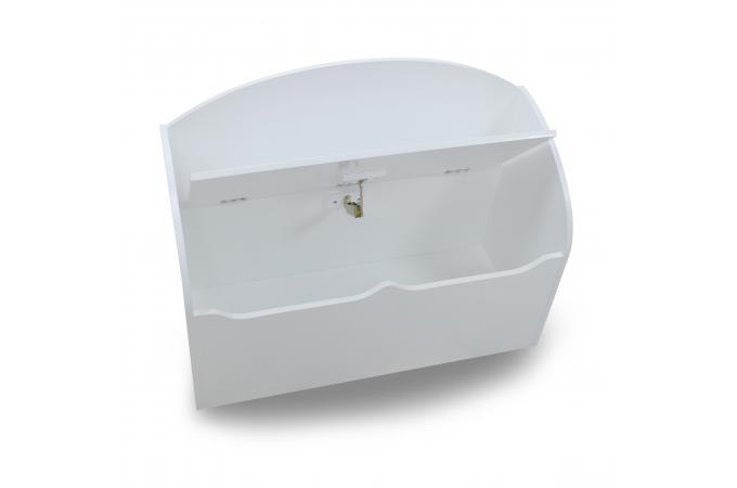 coffre jouets blanc plano design sur sofactory. Black Bedroom Furniture Sets. Home Design Ideas