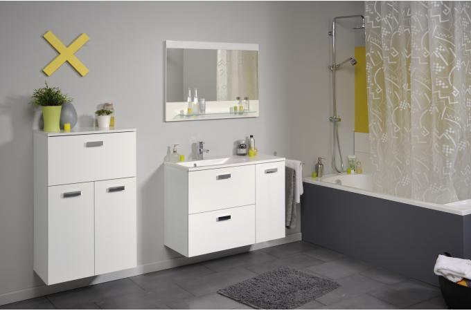 Colonne de salle de bain finition laqu e blanc sun 60 cm for Colonne de salle de bain 60 cm