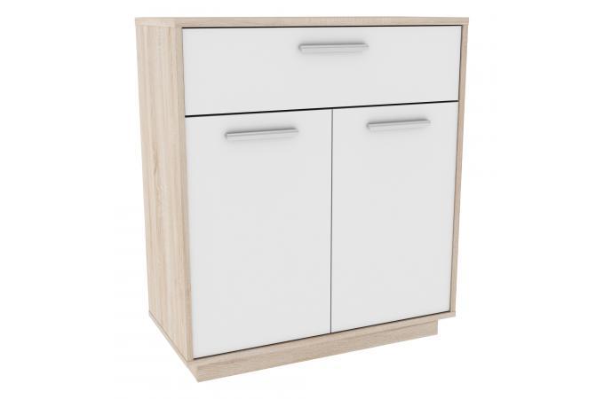 commode 2 portes 1 tiroir bois waco design sur sofactory. Black Bedroom Furniture Sets. Home Design Ideas