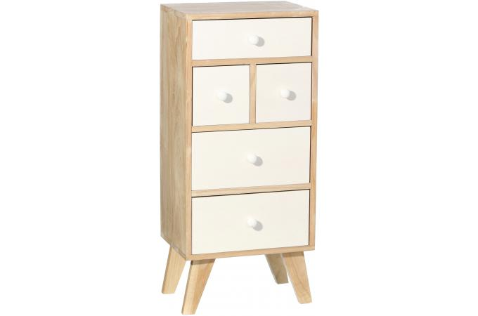 commode scandinave 5 compartiments destiny design pas cher. Black Bedroom Furniture Sets. Home Design Ideas