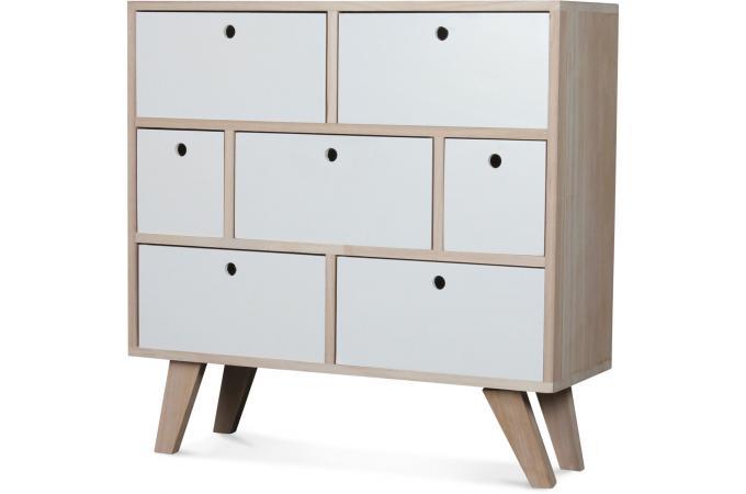 commode style scandinave en bois 7 tiroirs 60x25x69 vancouver design sur sofactory. Black Bedroom Furniture Sets. Home Design Ideas